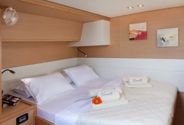 Sailing Charter Catamaran SERENITY Guest Double Cabin