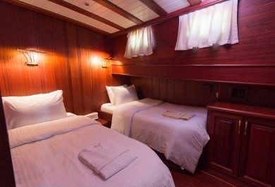 Luxury Charter Gulet ATALANTE Guest Twin Cabin
