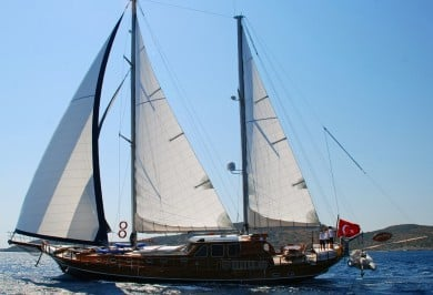 Luxury Charter Gulet ATALANTE Under Sails