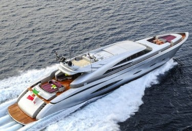 Luxury Charter Motor Yacht MY TOY Running Aerial