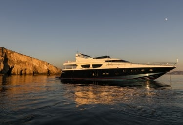 Charter Motor Yacht MYTHOS At Anchor