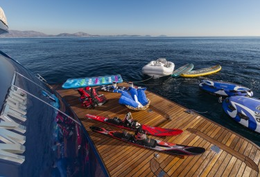 Luxury Motor Yacht MYTHOS Platform with Toys