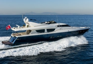 Luxury Motor Yacht MYTHOS Running