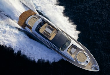 Luxury Charter Motor Yacht SOLARIS Aerial View
