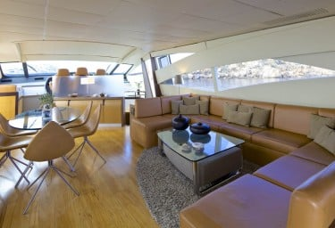 Luxury Charter Yacht SOLARIS Saloon and Dining