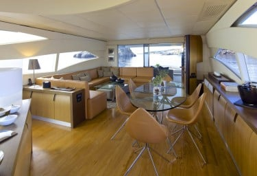 Charter Motor Yacht SOLARIS Saloon View Aft