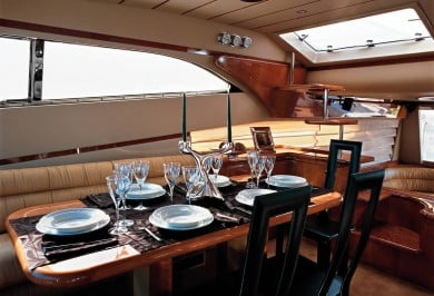 Charter Yacht MELI Interior Dining