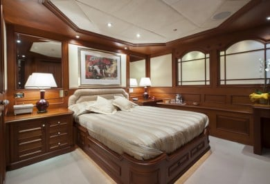 Luxury Charter Mega Yacht MOSAIQUE Guest Cabin with Ensuite Bathroom