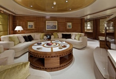 Luxury Charter Yacht MIA RAMA Upper Deck Lounge