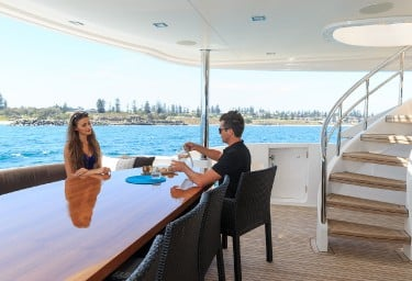 PARADISE Aft Deck Dining