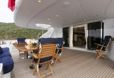 Luxury Charter Yacht SOVEREIGN Main Deck Aft