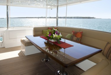 Charter Yacht COSMOS Aft Deck