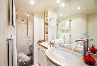 Dilias master bathroom