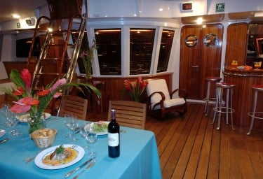 DOUCE FRANCE Aft Deck Dining
