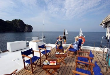 DOUCE FRANCE Aft Deck