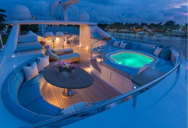 FOUR WISHES Sun Deck Jacuzzi Evening Setting