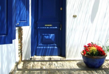 Cyclades village door