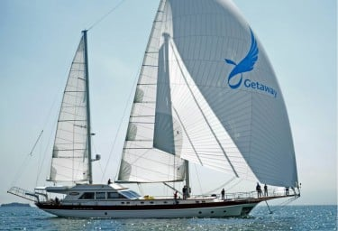 Gulet Getaway Sailing With Spinnaker