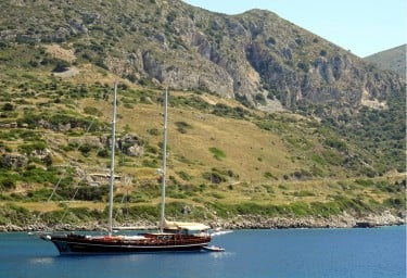 Gulet Anchored in Knidos
