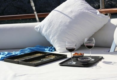 Gulet CANER IV Aft Deck Cushions Leisure