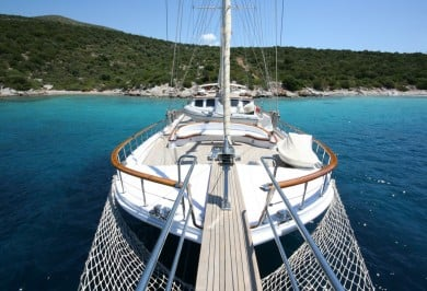 Luxury Gulet CANER IV Foredeck View