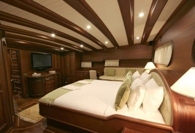 Gulet CANER IV Guest Master Cabin Aft with TV