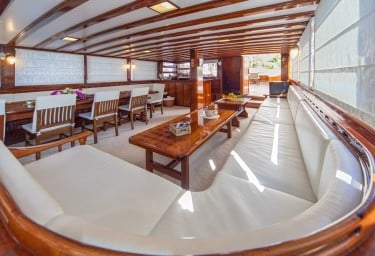 Gulet STELLA MARIS Saloon Looking Aft