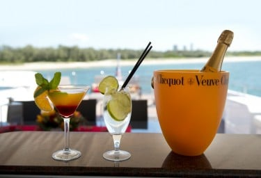 Happy Hour Aboard Charter Yacht COSMOS
