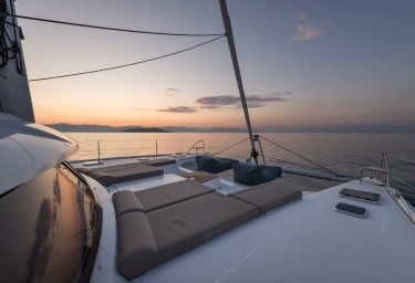 PI 2 Foredeck at Sunset