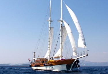 Luxury Charter Gulet LIBRA Under Sail