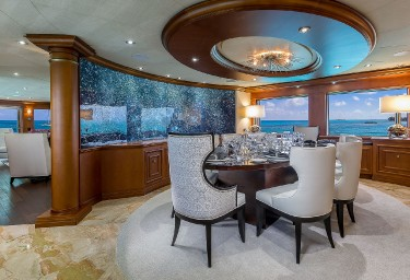 Luxury Charter Yacht M3 Formal Dining