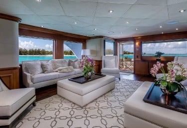 Luxury Charter Yacht M3 Main Saloon