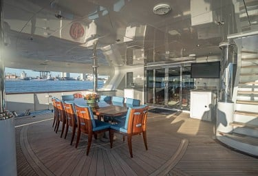 NEVER ENOUGH Aft Deck