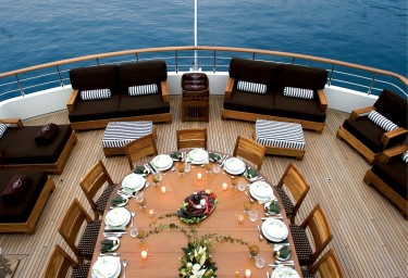 SEA DREAM Upper Deck Aft Dining