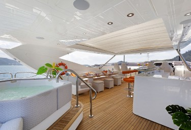 SETTLEMENT Sundeck Looking Aft