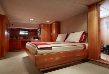 Luxury Charter Sailing Yacht SILVERTIP Master Suite Aft