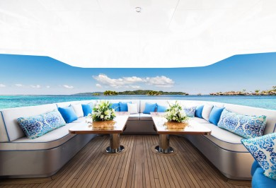Luxury Charter Yacht MY SEANNA Main Aft Deck