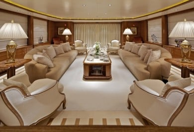 Luxury Yacht MIA RAMA Main Salon Lounge Area