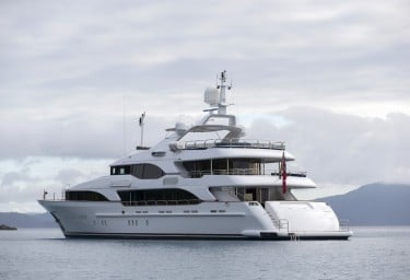 Luxury Charter Yacht SOVEREIGN At Anchor