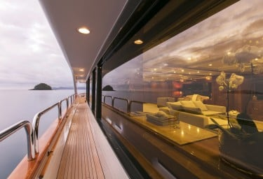 Luxury Charter Yacht SOVEREIGN Exterior Deck