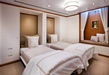 Luxury Expedition Yacht SURI Bunk Room