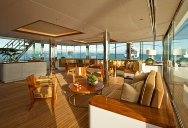 Luxury Expedition Yacht SURI Glass House with Chopper aft
