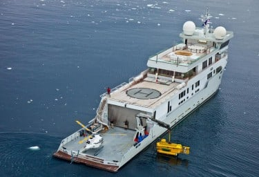 Luxury Expedition Yacht SURI Exterior Antarctic Garage