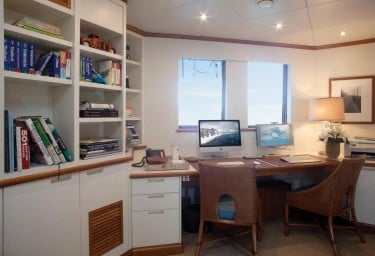 Luxury Expedition Yacht SURI Master Office