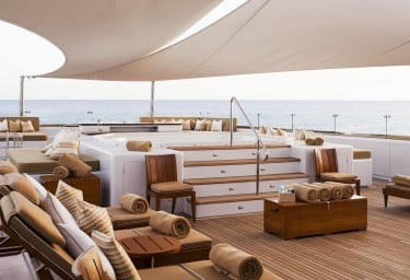 Luxury Expedition Yacht SURI Spacious Sun Deck