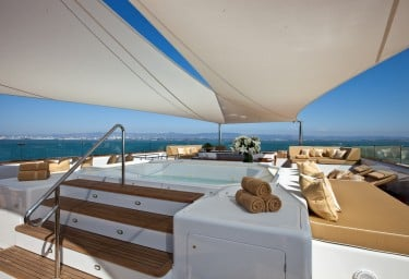 Luxury Expedition Yacht SURI Sun Deck Jacuzzi