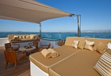 Luxury Expedition Yacht SURI Sun Deck Relaxation