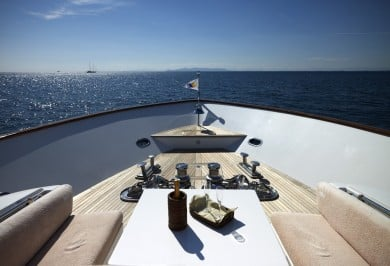 Luxury Motor Boat FELIGO V Foredeck Views