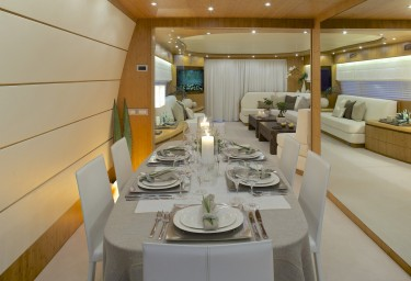 Luxury Motor Yacht CUDU Dining Room