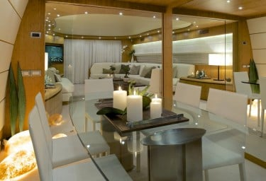 Luxury Motor Yacht CUDU Formal Dining